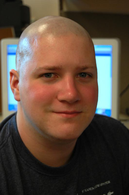 So bald.